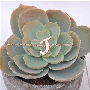 HUANXUN Stainless SteelInitial Adjustable Bracelet
